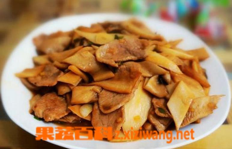 果蔬百科杏鲍菇炒肉做法大全